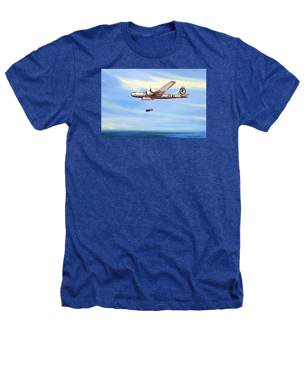 Military Heathers T-Shirt featuring the painting Enola Gay by Marc Stewart