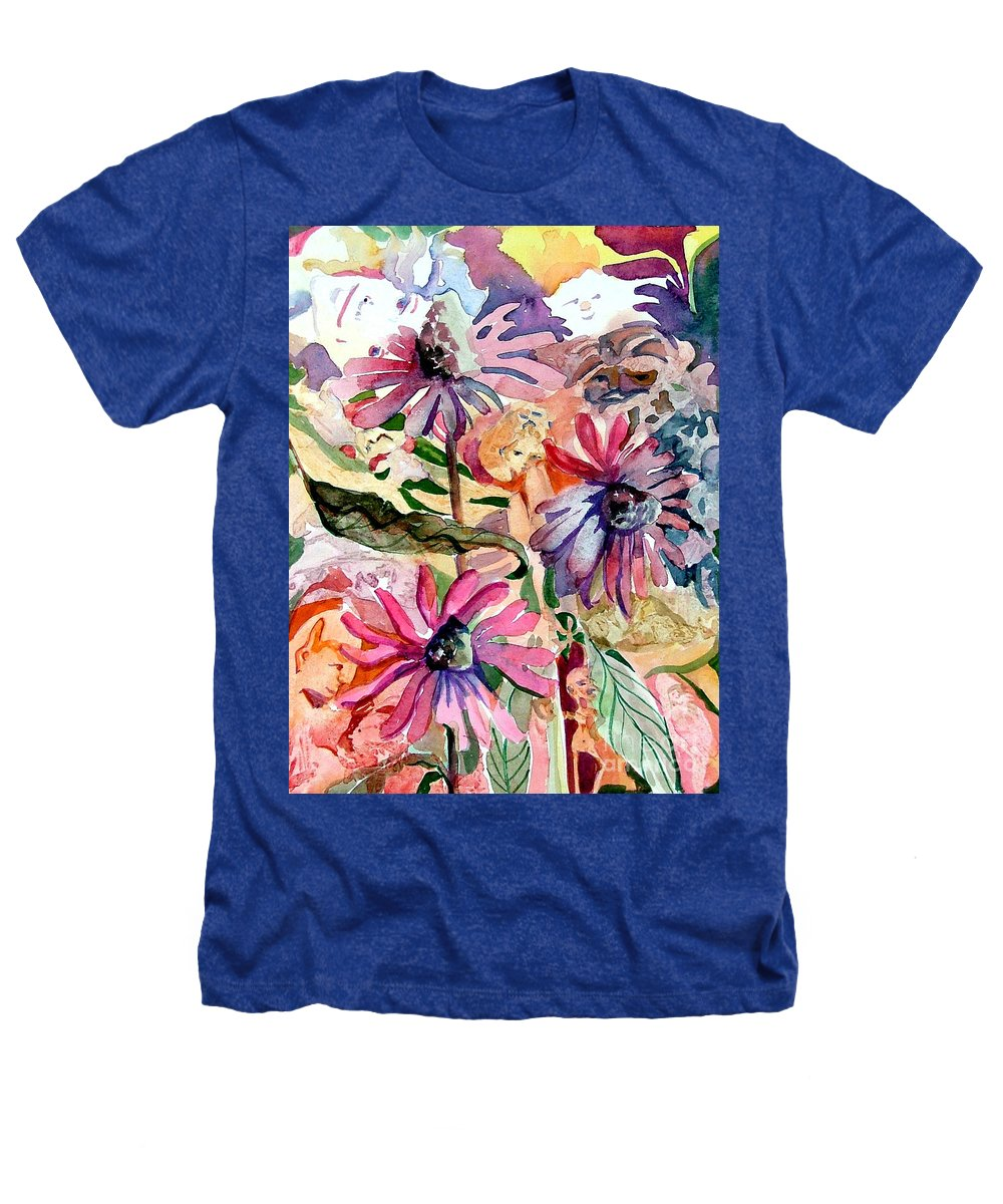 Daisy Heathers T-Shirt featuring the painting Fairy Land by Mindy Newman