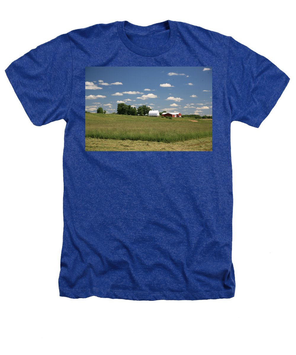 Farm Heathers T-Shirt featuring the photograph First Cutting by Robert Pearson