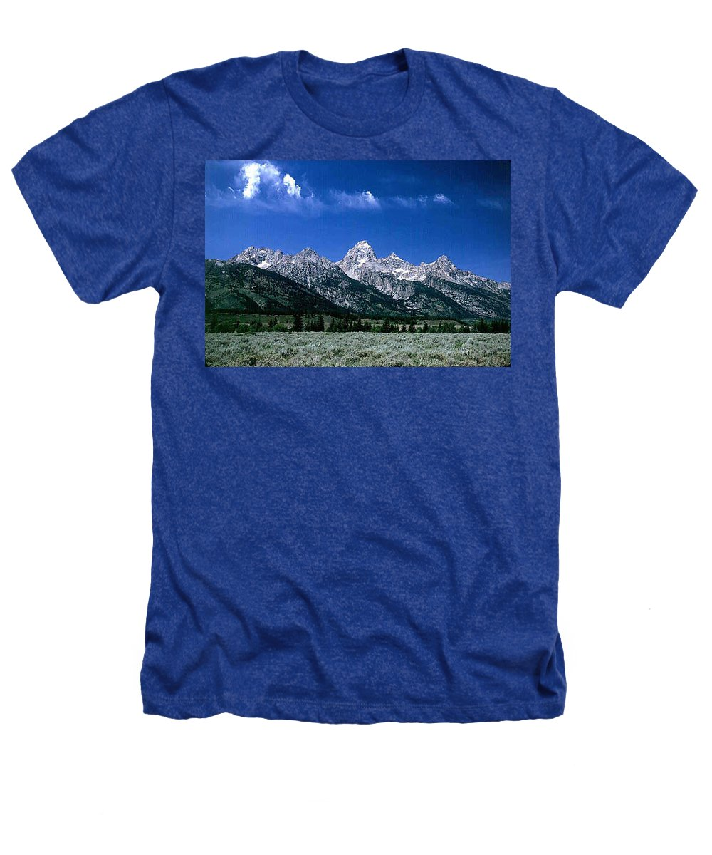 Mountains Heathers T-Shirt featuring the photograph First View Of Tetons by Kathy McClure