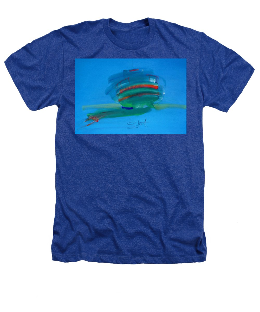 Fishing Boat Heathers T-Shirt featuring the painting Fishing Boat Hastings by Charles Stuart