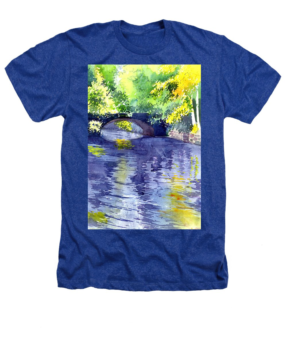 Nature Heathers T-Shirt featuring the painting Floods by Anil Nene