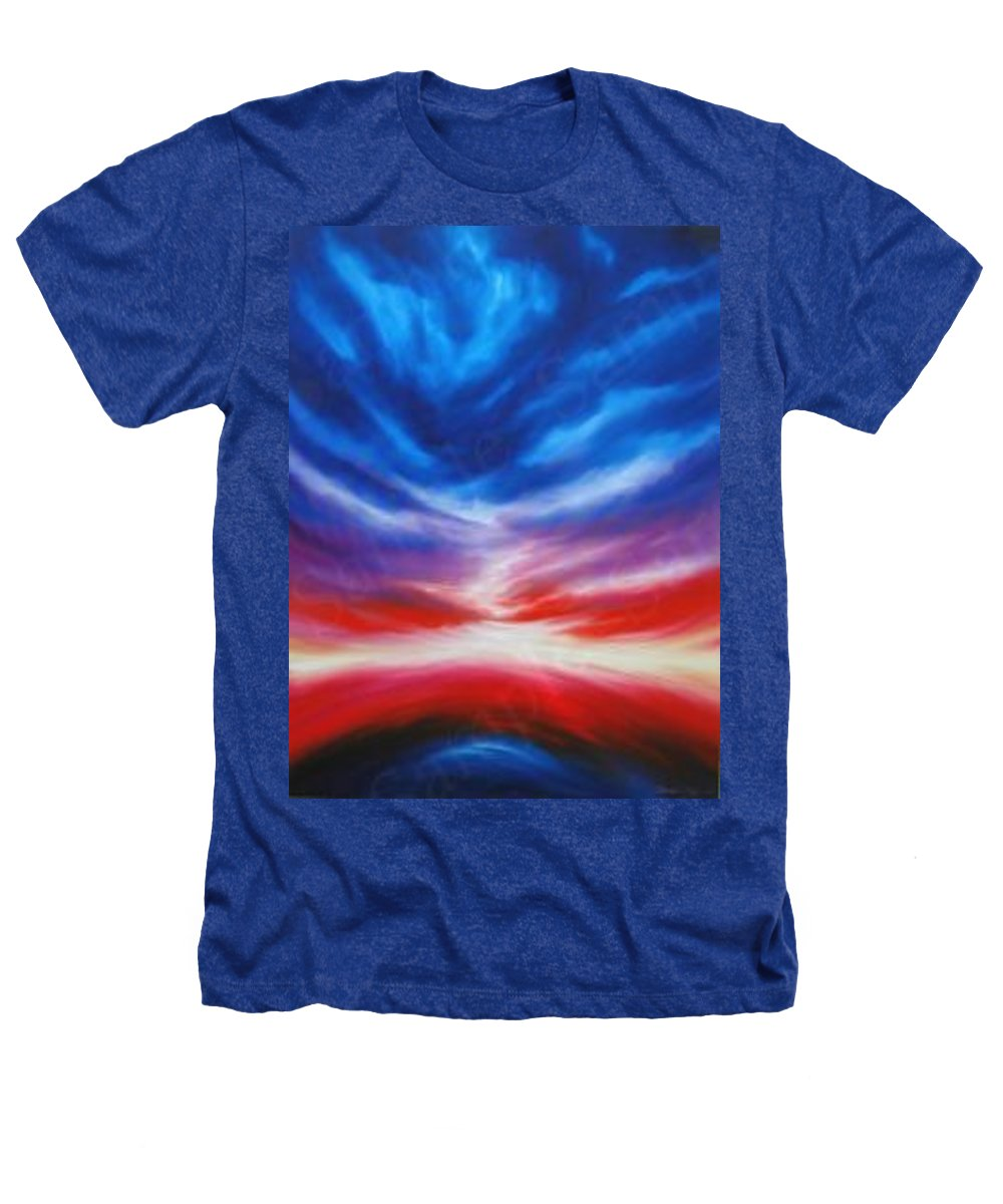 Tempest Heathers T-Shirt featuring the painting Genesis IIi by James Christopher Hill