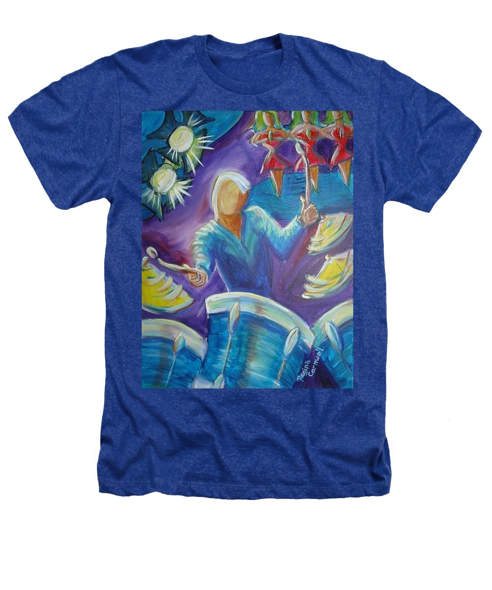Jazz Heathers T-Shirt featuring the painting Give Me A Beat by Regina Walsh