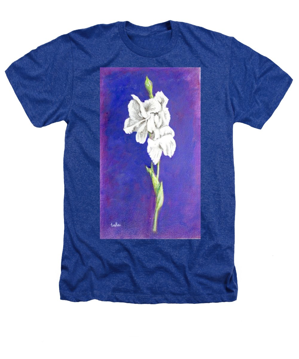 Heathers T-Shirt featuring the painting Gladiolus 2 by Usha Shantharam