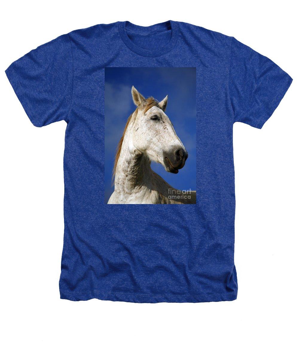 Animals Heathers T-Shirt featuring the photograph Horse Portrait by Gaspar Avila