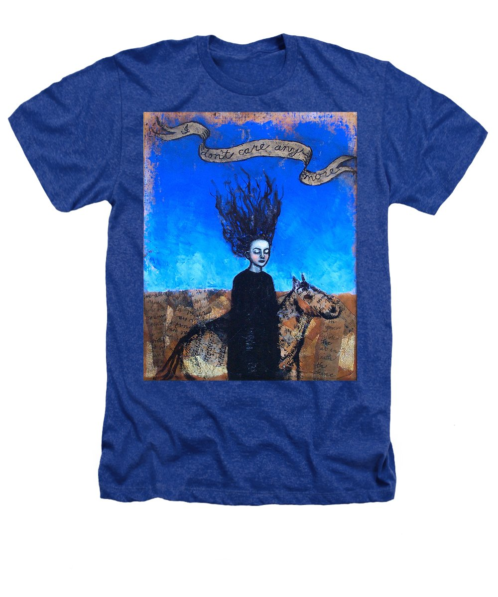 Heathers T-Shirt featuring the painting Idontcareanymore by Pauline Lim