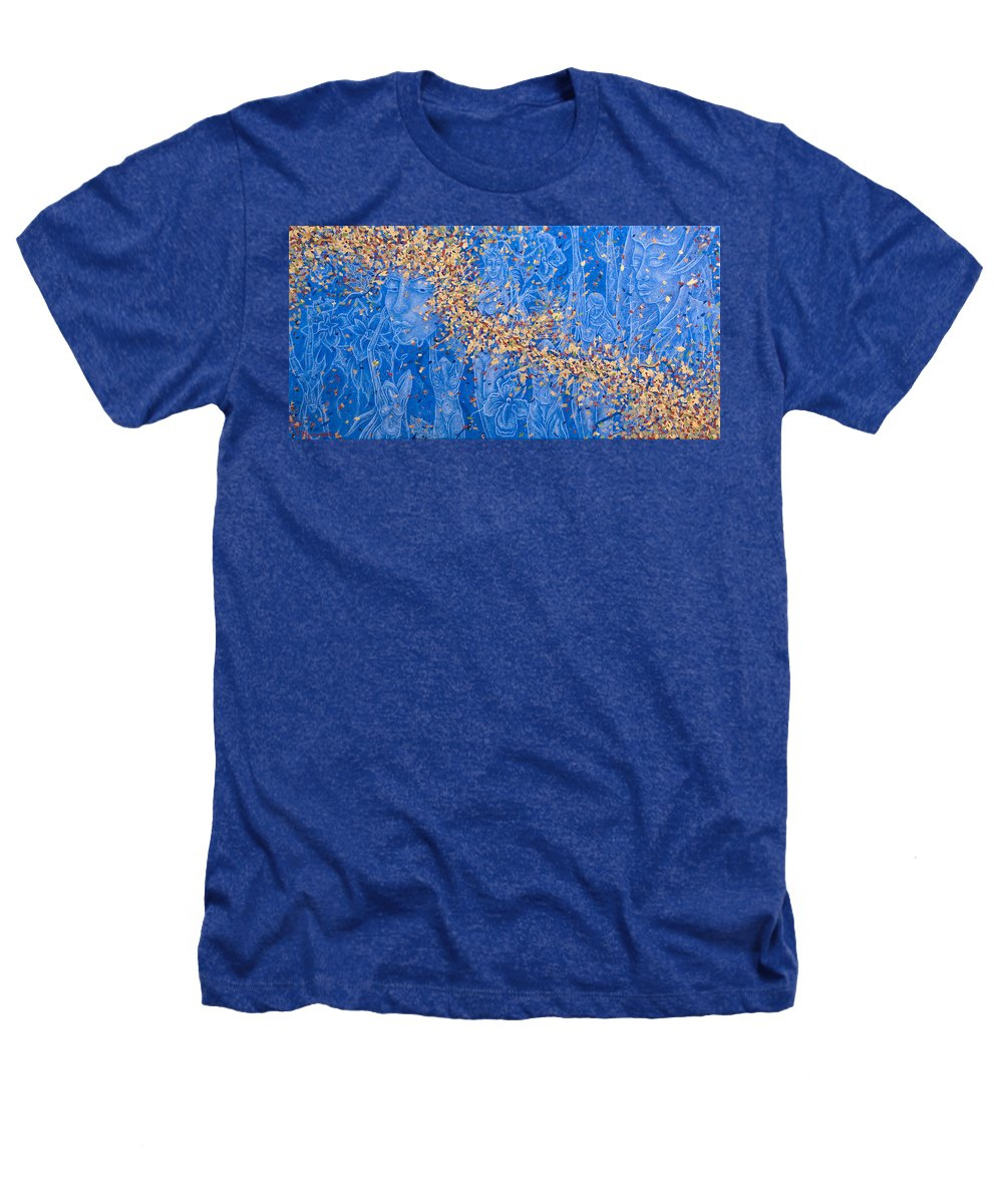 Waterfall Heathers T-Shirt featuring the painting In The Falls by Judy Henninger