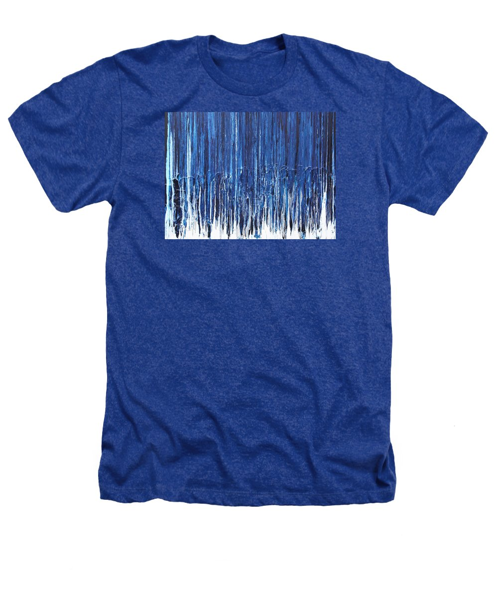 Fusionart Heathers T-Shirt featuring the painting Indigo Soul by Ralph White