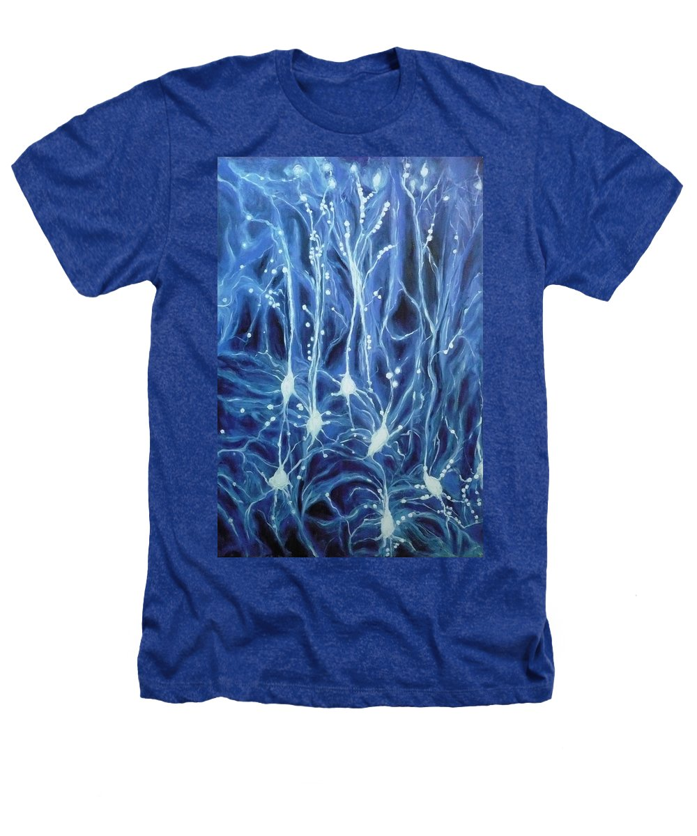 Brain Cell Heathers T-Shirt featuring the painting Inside The Brain by Ericka Herazo