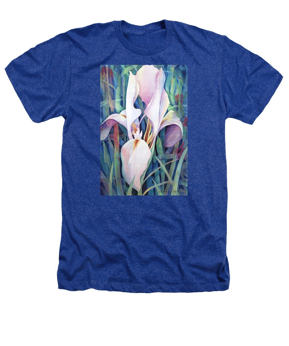 Fine Art America Flower Paintings Heathers T-Shirt featuring the painting Iris by Susanne Clark