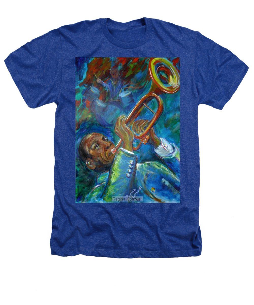 Jazz Heathers T-Shirt featuring the painting Jazz Man by Regina Walsh