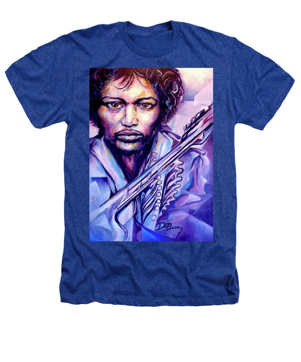 Heathers T-Shirt featuring the painting Jimi by Lloyd DeBerry