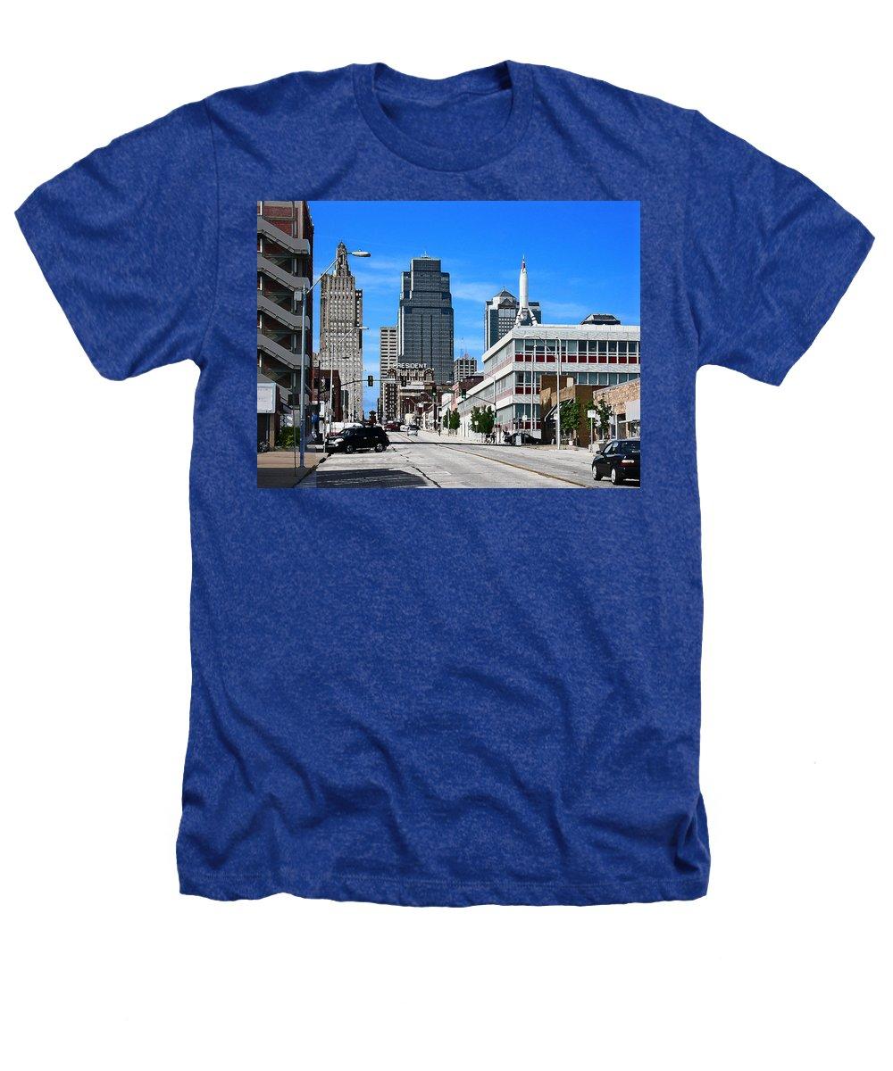City Scape Heathers T-Shirt featuring the photograph Kansas City Cross Roads by Steve Karol