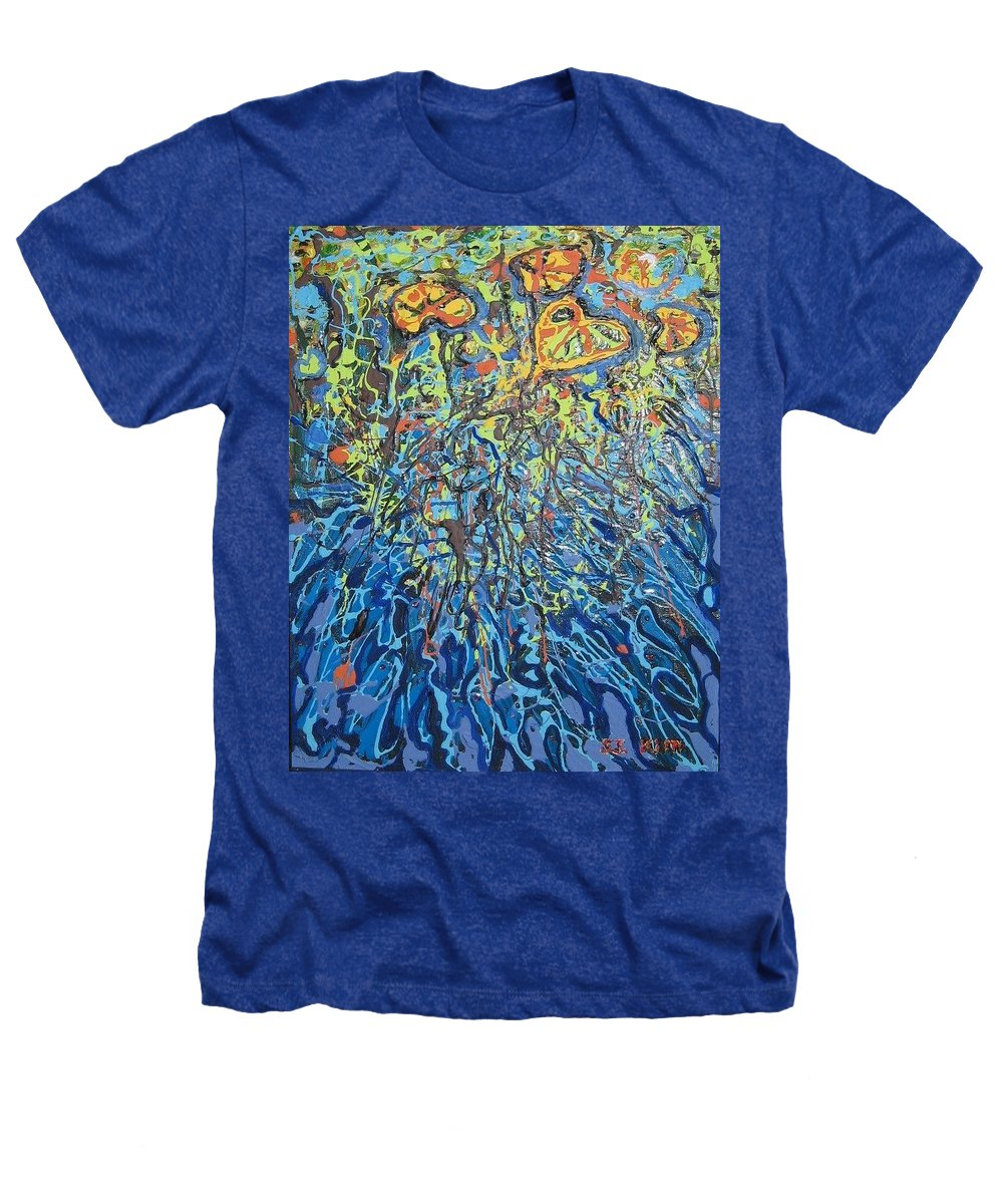 Lily Pads Paintings Heathers T-Shirt featuring the painting Lily Pads Water Lily Paintings by Seon-Jeong Kim