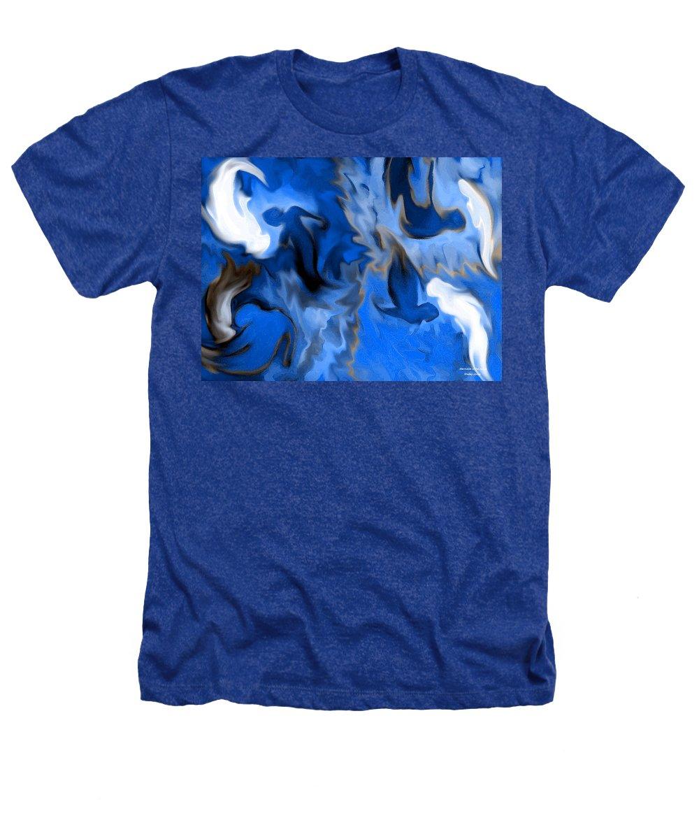 Mermaids Heathers T-Shirt featuring the digital art Mermaids by Shelley Jones