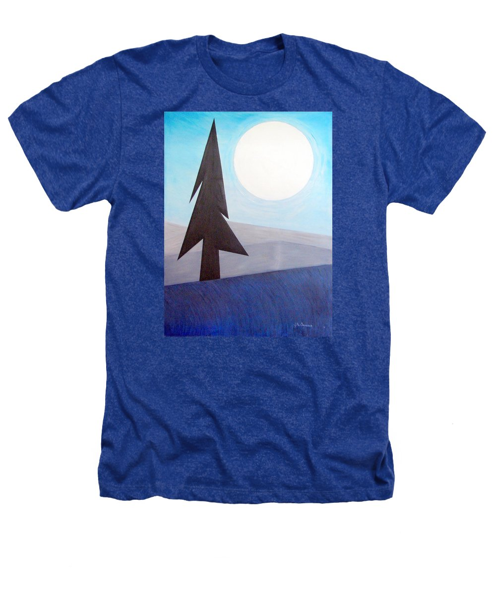 Phases Of The Moon Heathers T-Shirt featuring the painting Moon Rings by J R Seymour