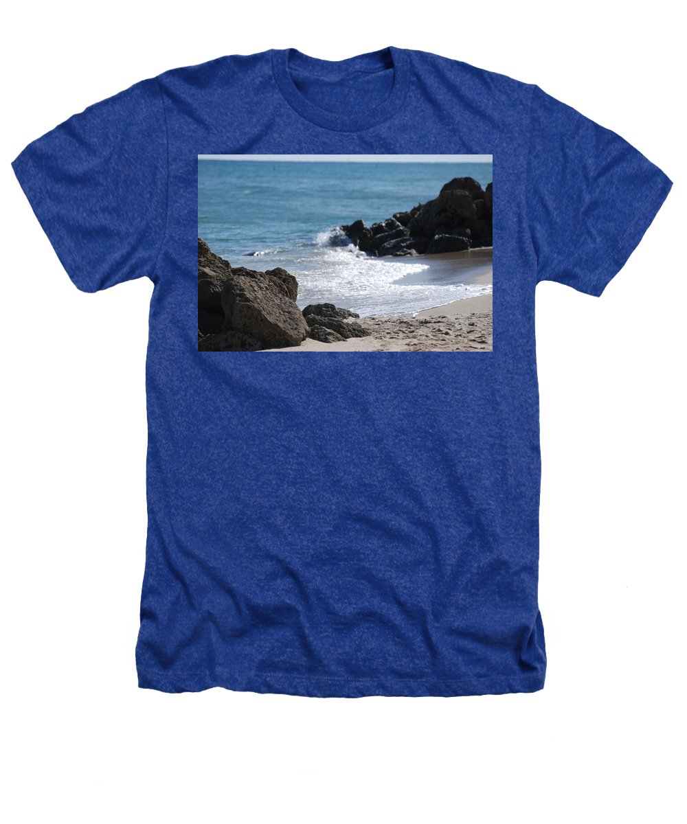 Sea Scape Heathers T-Shirt featuring the photograph Ocean Rocks by Rob Hans