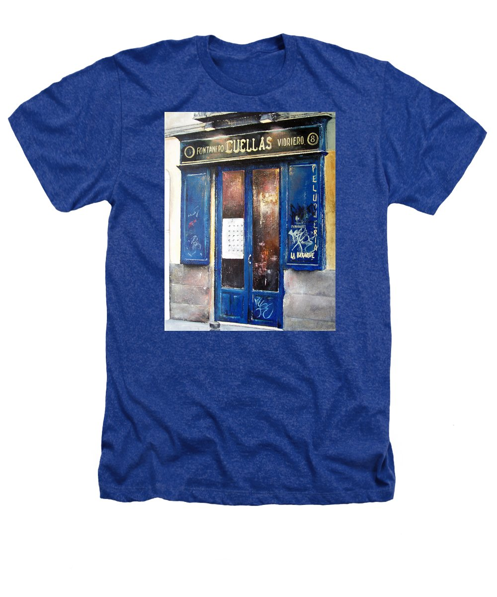 Old Heathers T-Shirt featuring the painting Old Plumbing-madrid by Tomas Castano