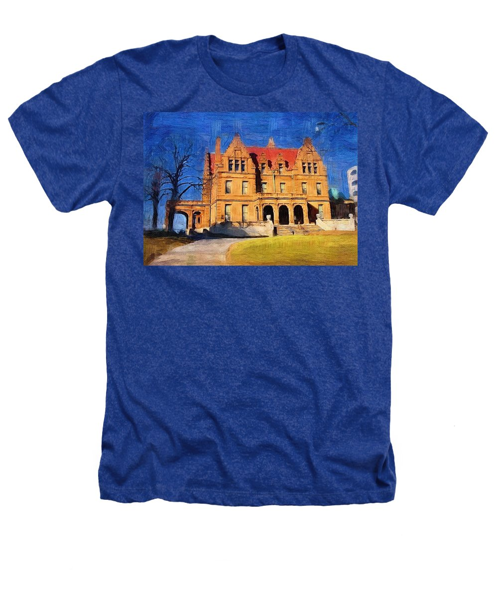 Architecture Heathers T-Shirt featuring the digital art Pabst Mansion by Anita Burgermeister