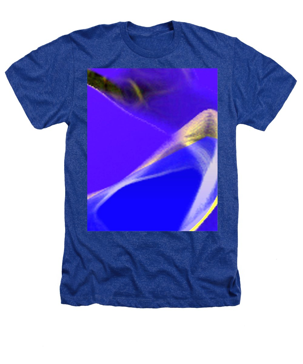 Abstract Heathers T-Shirt featuring the digital art panel three from Movement in Blue by Steve Karol