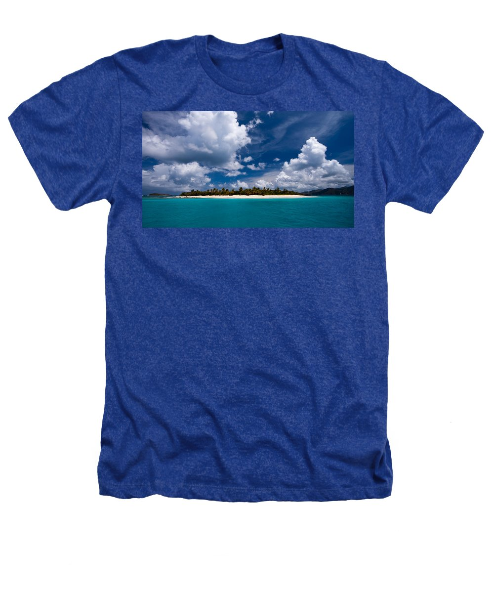 3scape Heathers T-Shirt featuring the photograph Paradise Is Sandy Cay by Adam Romanowicz