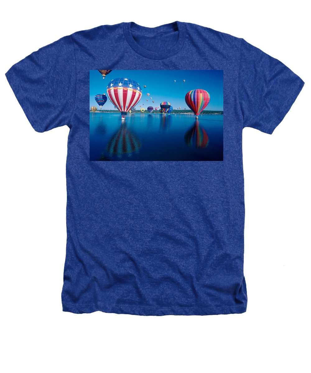 Hot Air Balloons Heathers T-Shirt featuring the photograph Patriotic Hot Air Balloon by Jerry McElroy