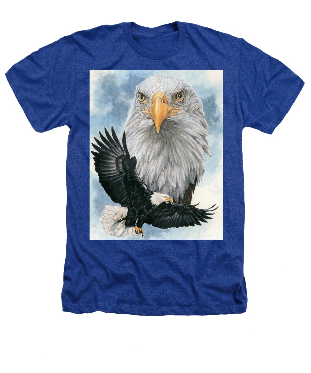 Bald Eagle Heathers T-Shirt featuring the mixed media Peerless by Barbara Keith