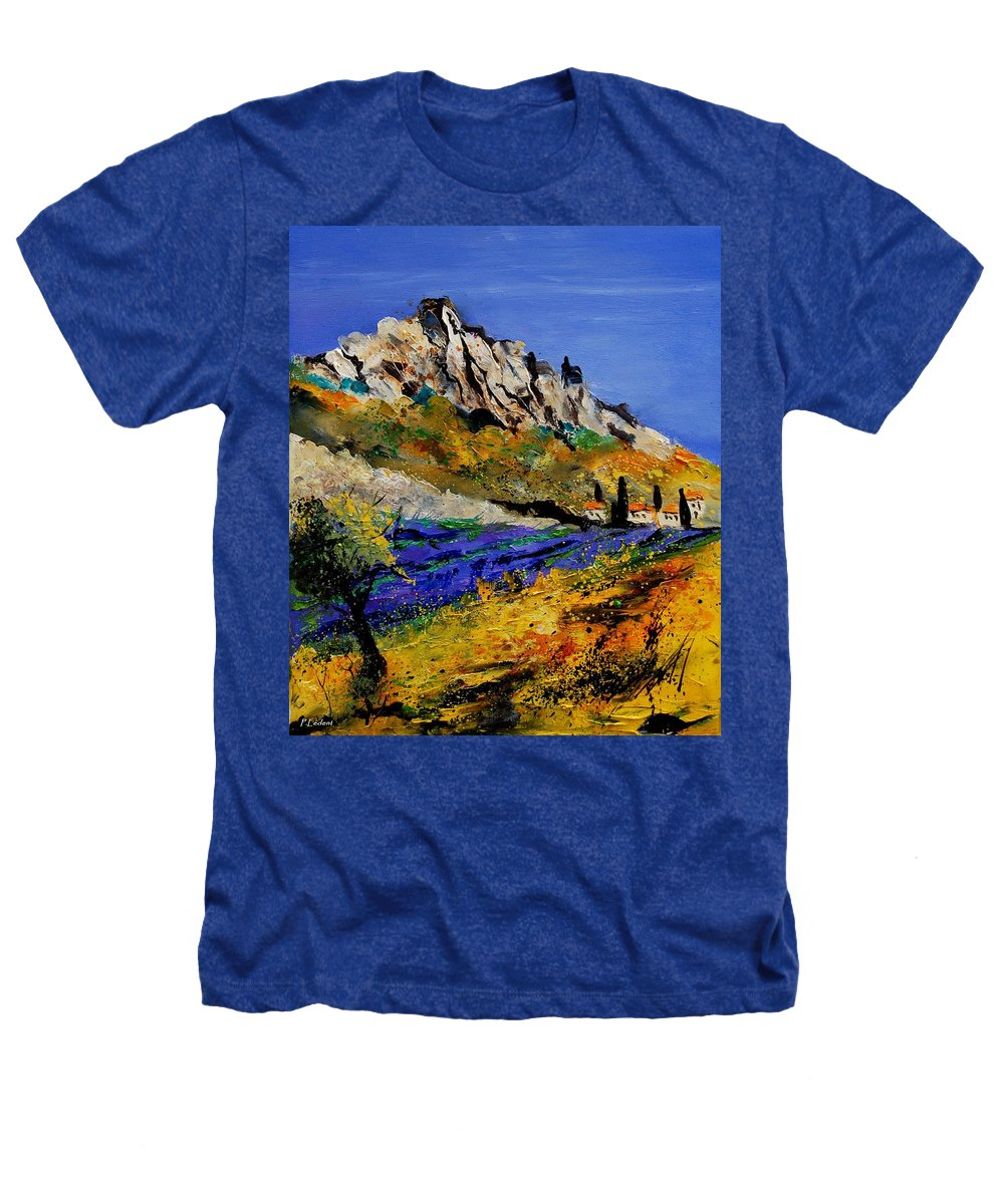 Flowers Heathers T-Shirt featuring the painting Provence 560908 by Pol Ledent