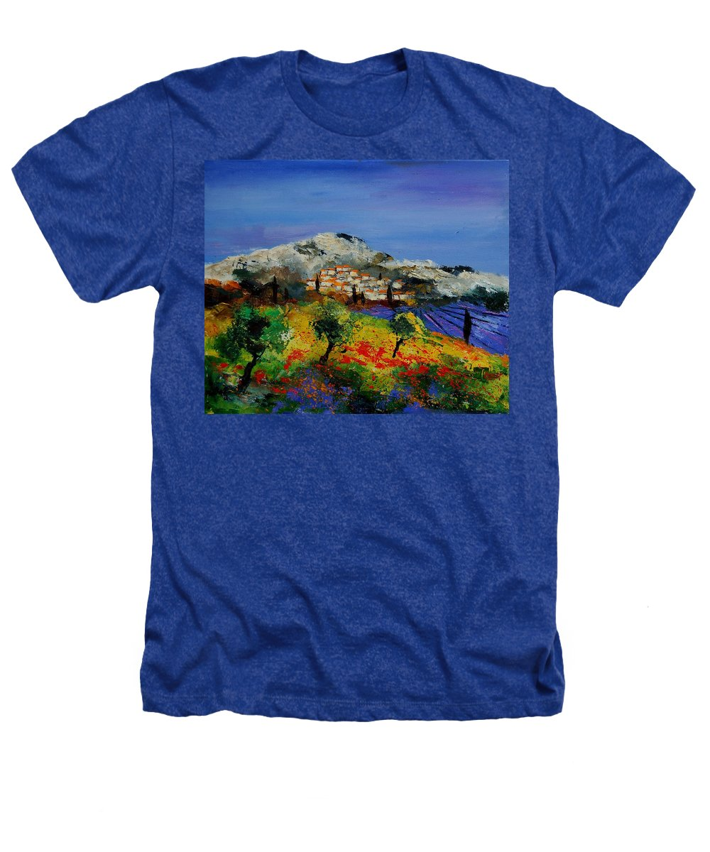 Provence Heathers T-Shirt featuring the painting Provence 569010 by Pol Ledent