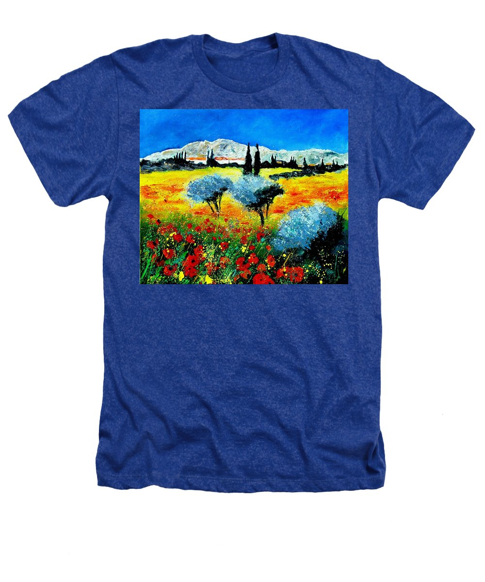 Poppies Heathers T-Shirt featuring the painting Provence by Pol Ledent