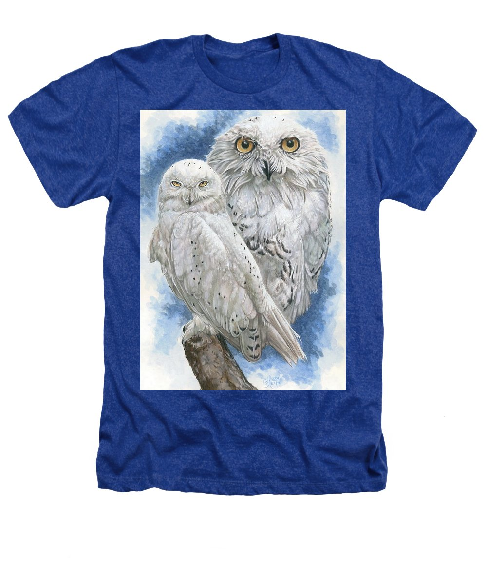 Snowy Owl Heathers T-Shirt featuring the mixed media Radiant by Barbara Keith