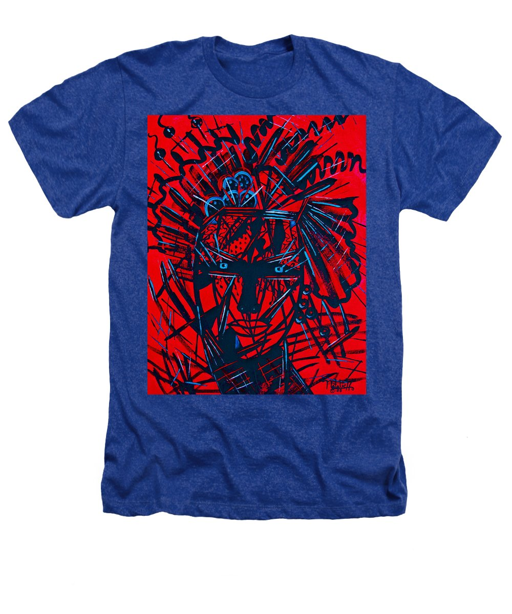 Abstract Heathers T-Shirt featuring the painting Red Exotica by Natalie Holland
