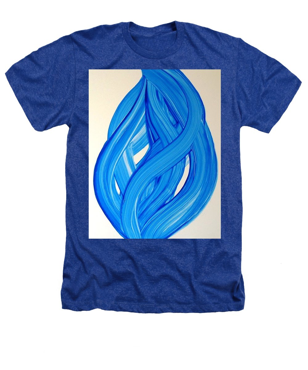 Abstract Modern Contemporary Yupo Art Painting Romantic Pop Blue Heathers T-Shirt featuring the painting Ribbons Of Love-blue by Manjiri Kanvinde