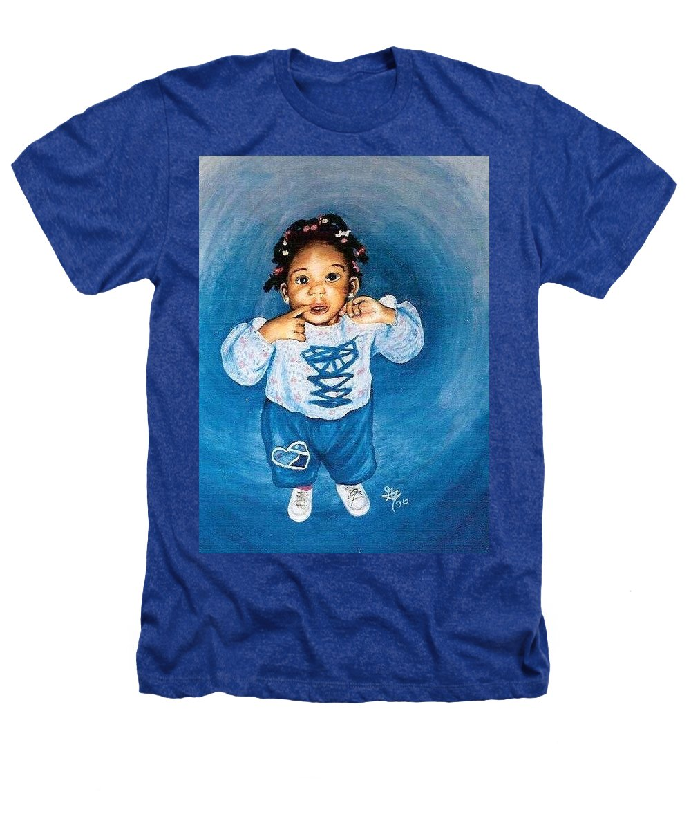 Child Heathers T-Shirt featuring the pastel Sadie by Gale Cochran-Smith
