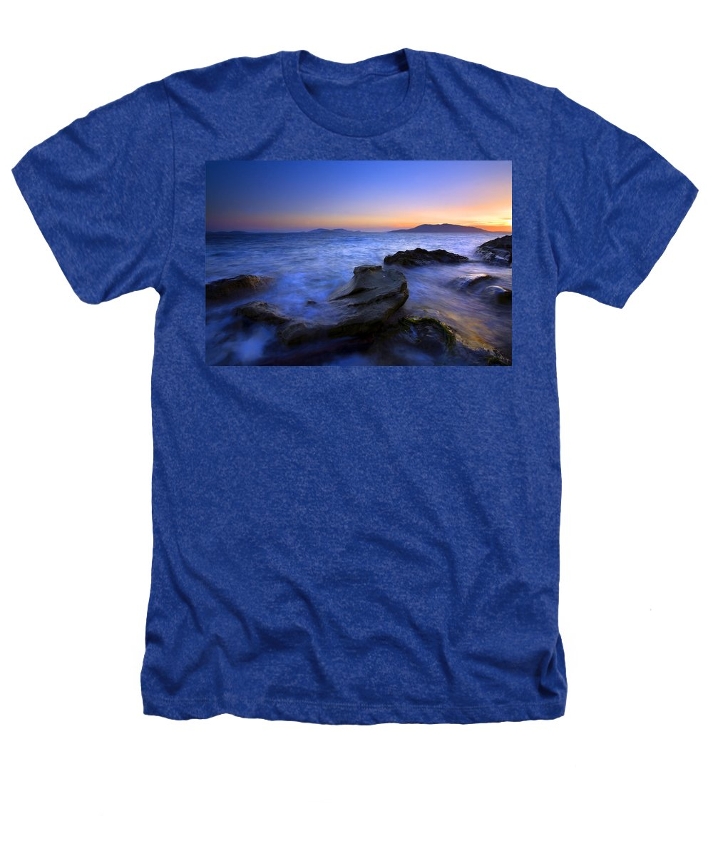 Sunset Heathers T-Shirt featuring the photograph San Juan Sunset by Mike Dawson