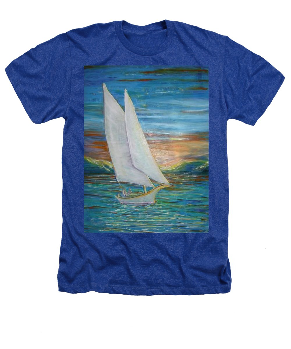 Sailboat Heathers T-Shirt featuring the painting Saturday Sail by Regina Walsh