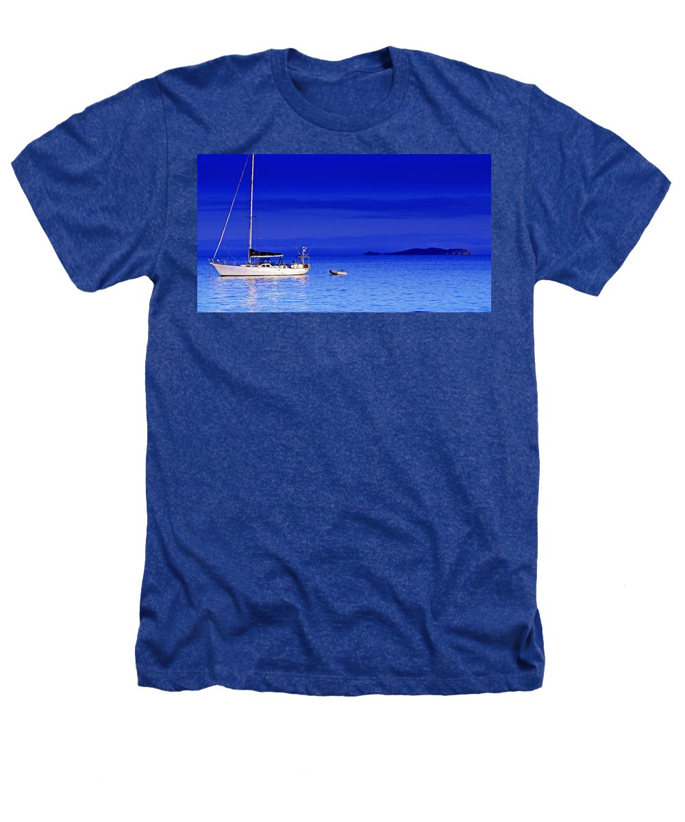 Transportation. Boats Heathers T-Shirt featuring the photograph Serene Seas by Holly Kempe