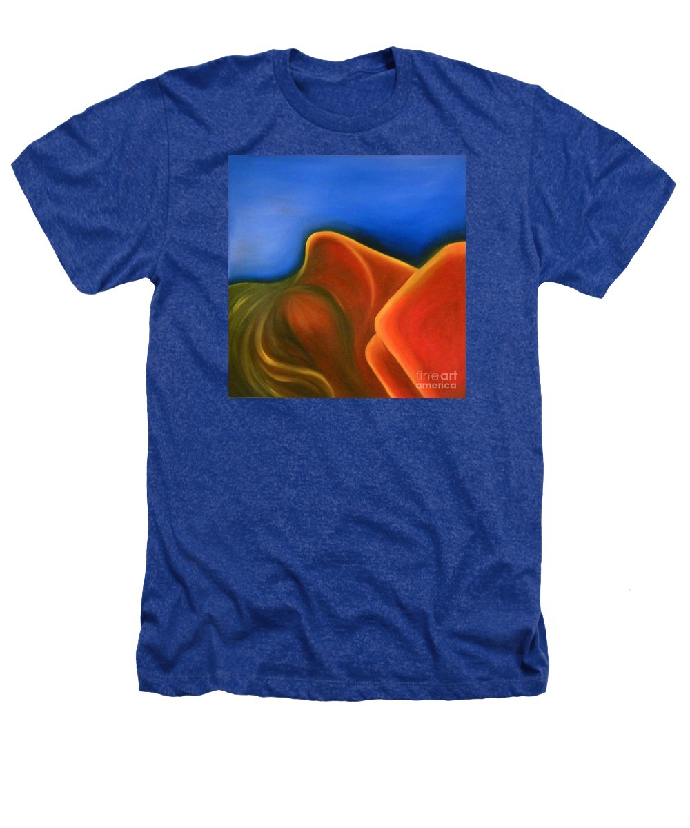 Woman Paintings Heathers T-Shirt featuring the painting Sinuous Curves Iv by Fanny Diaz