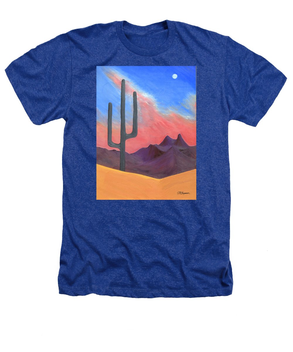 Cactus Heathers T-Shirt featuring the painting Southwest Scene by J R Seymour