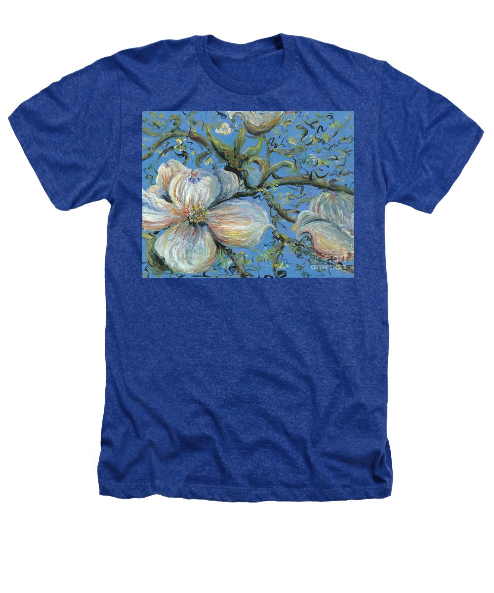 Flower Heathers T-Shirt featuring the painting Spring Blossoms by Nadine Rippelmeyer
