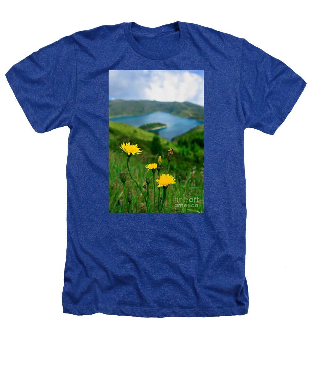Caldera Heathers T-Shirt featuring the photograph Springtime In Fogo Crater by Gaspar Avila