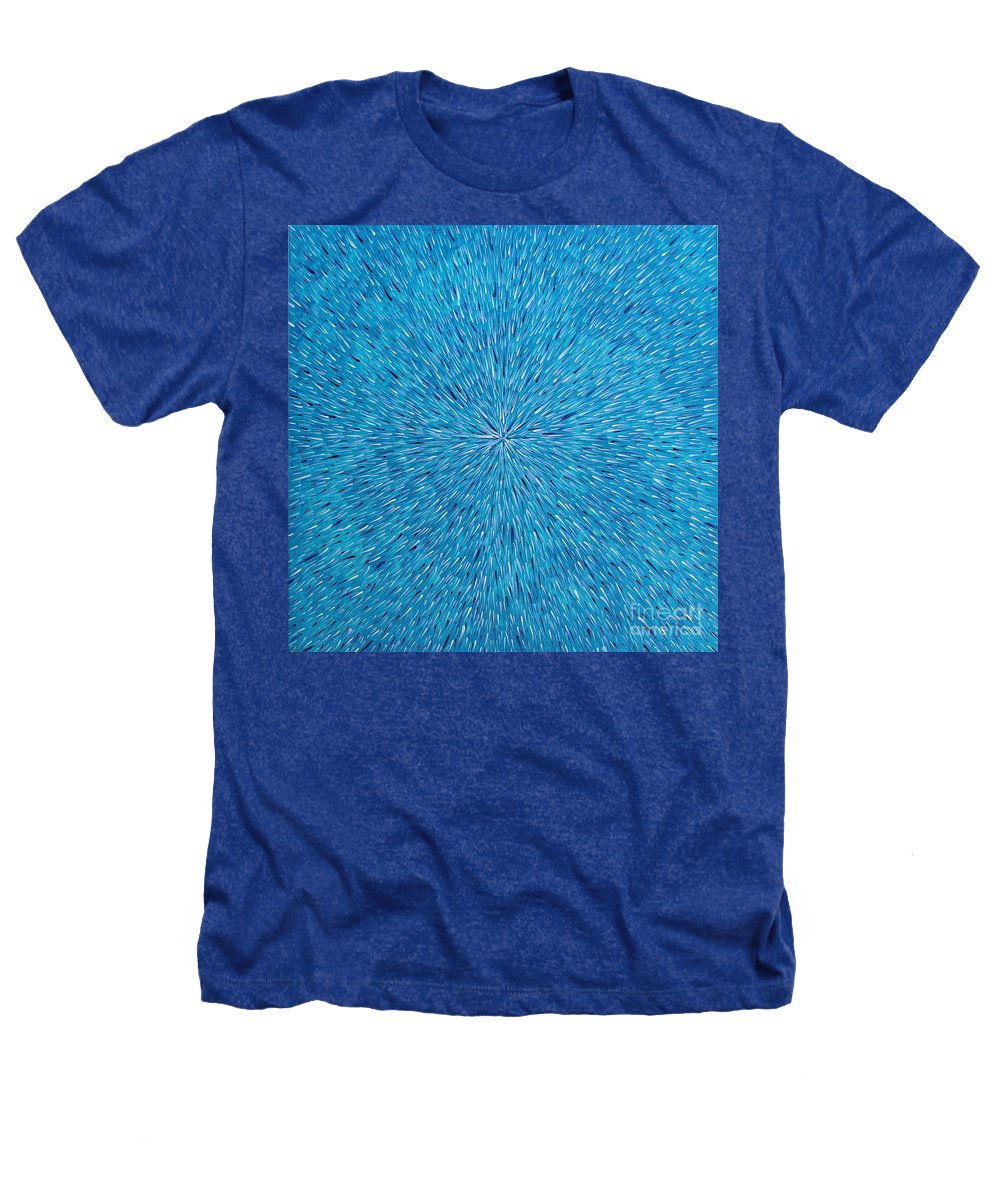 Abstract Heathers T-Shirt featuring the painting Su Gaia Rain by Dean Triolo