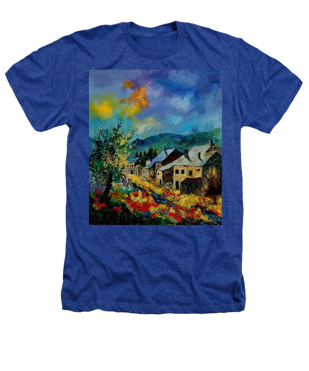 Poppies Heathers T-Shirt featuring the painting Summer In Mogimont by Pol Ledent