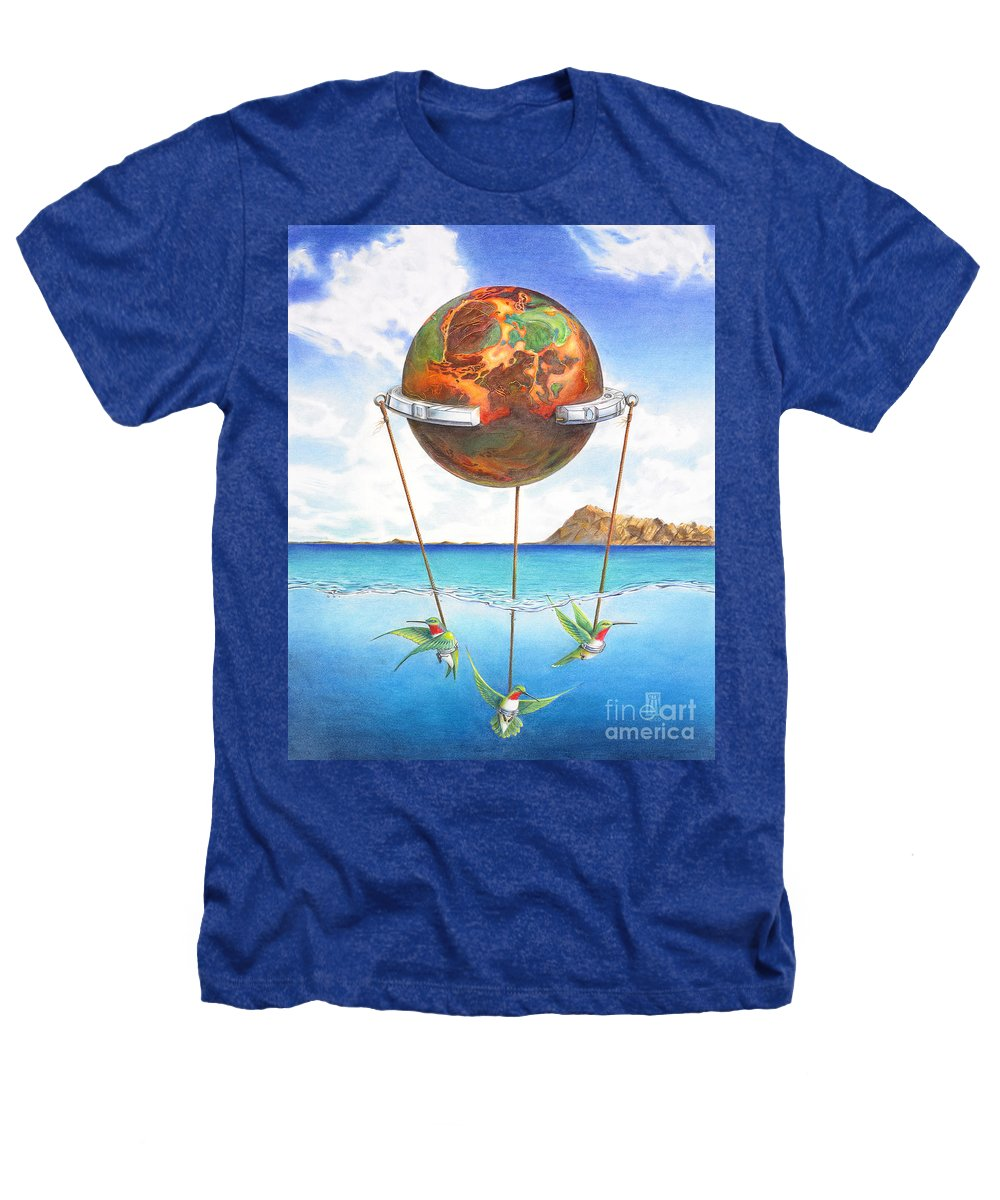 Surreal Heathers T-Shirt featuring the painting Tethered Sphere by Melissa A Benson