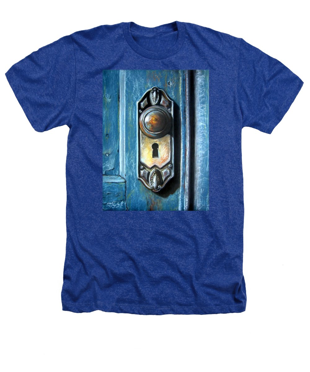 Door Knob Heathers T-Shirt featuring the painting The Door Knob by Leyla Munteanu