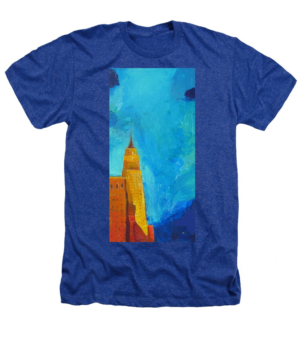 Abstract Cityscape Heathers T-Shirt featuring the painting The Empire State by Habib Ayat