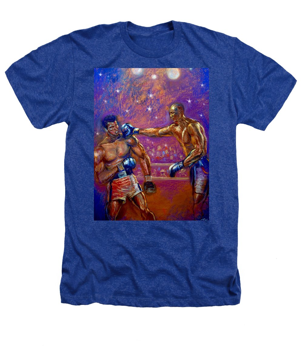 Boxing Heathers T-Shirt featuring the pastel the Greatest Muhammed Ali vs Jack Johnson by Tommy Winn