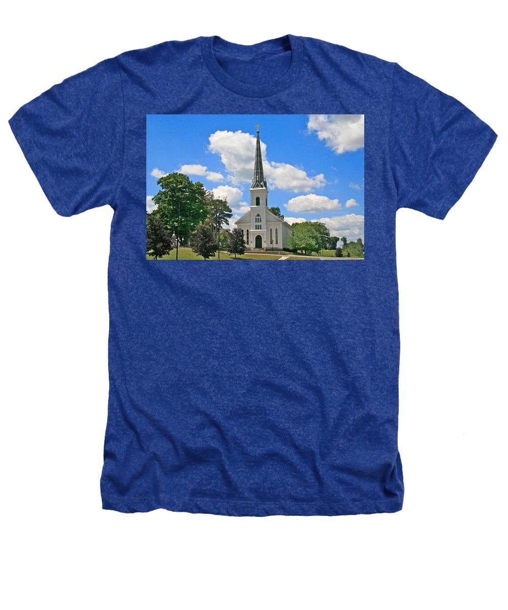 Usa Heathers T-Shirt featuring the photograph The Little Country Church by Robert Pearson