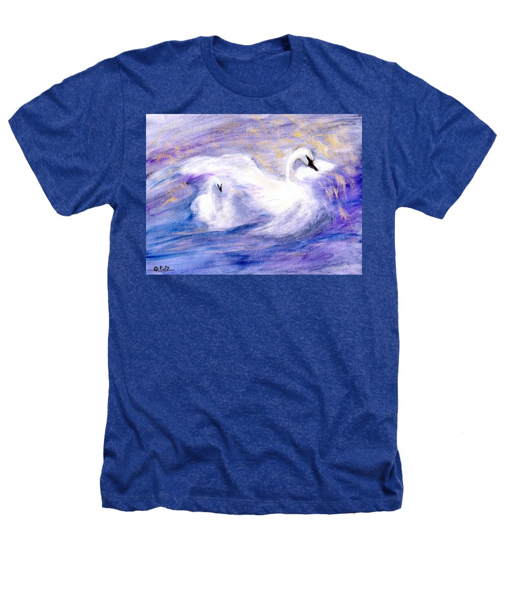 Birds Heathers T-Shirt featuring the painting Transformation by Gail Kirtz